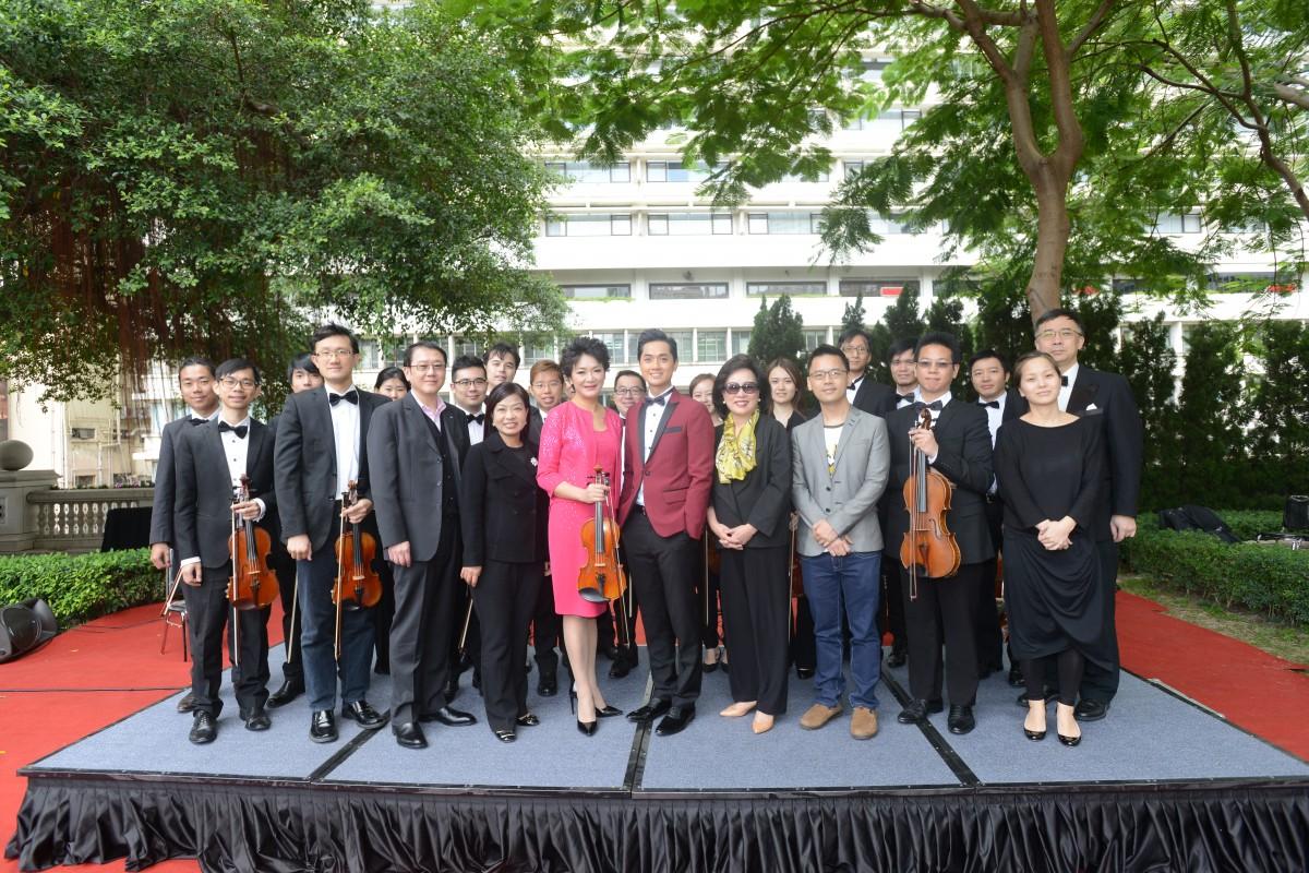 香港弦乐团与嘉宾合照